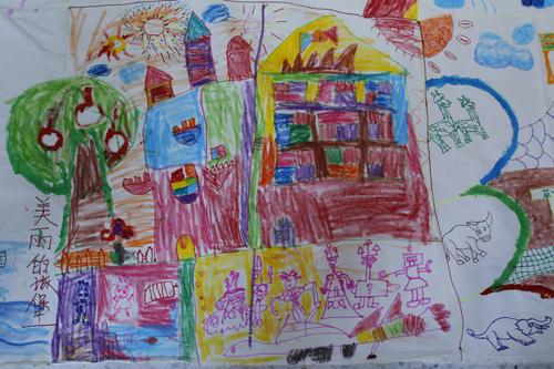 家乡的美景幼儿绘画图片展示_乐乐简笔画